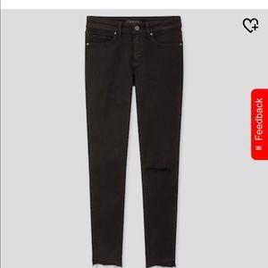 Uniqlo ultra stretch distressed jeans